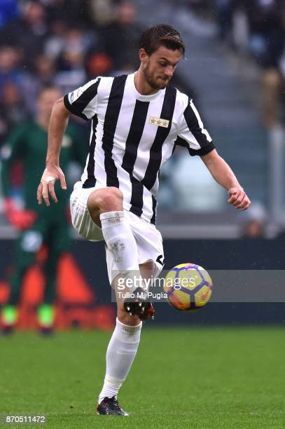 Daniele Rugani of Juventus in action during the Serie A match between Juventus and Benevento Calcio on November 5 2017 in Turin Italy