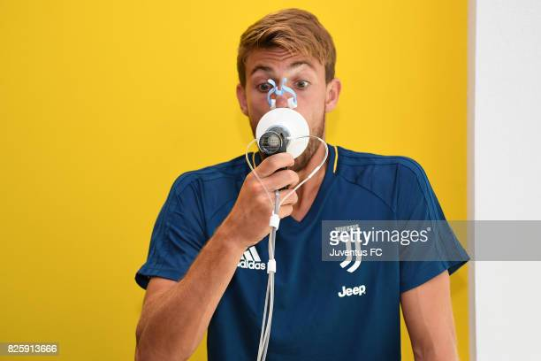 Daniele Rugani of Juventus undergoes medical tests at J medical on August 3 2017 in Turin Italy