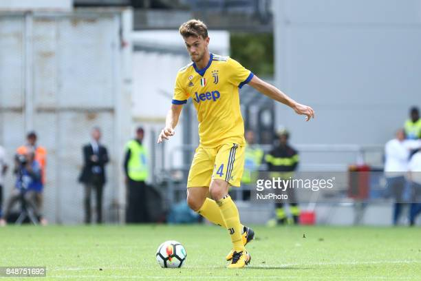 Daniele Rugani of Juventus uring the Serie A match between US Sassuolo and Juventus at Mapei Stadium Citta' del Tricolore on September 17 2017 in...