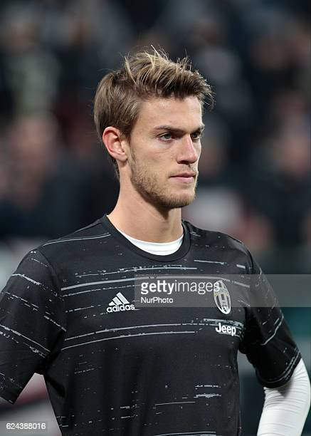 Daniele Rugani reacts before the Serie A match between Juventus v Pescara in Turin on november 19 2016