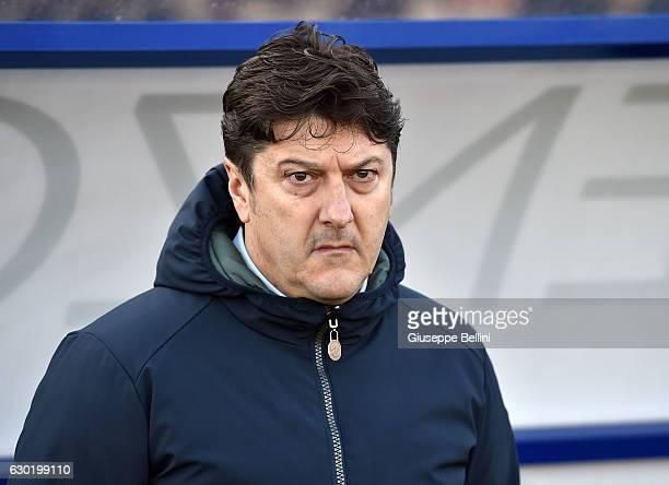 Daniele Sebastiani President of Pescara Calcio during the Serie A match between Pescara Calcio and Bologna FC at Adriatico Stadium on December 18...
