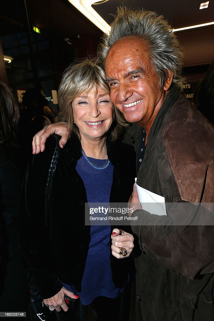 Daniele Thompson and Albert Koski attend 'Des gens qui s'embrassent' movie premiere at Cinema Gaumont Marignan on April 1, 2013 in Paris, France.