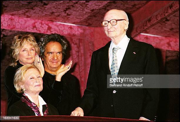 Daniele Thompson and her husband 'Albert Koski' 'Michele Morgan' 'Gerard Oury' film screening of 'La Grande Vadrouille' at the Garnier opera