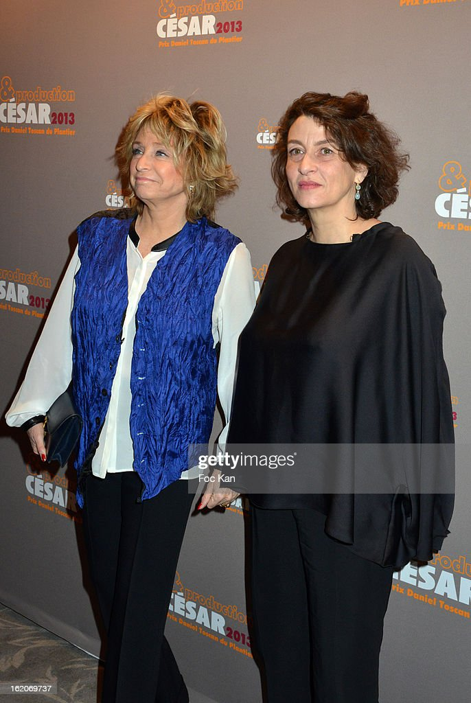 Daniele Thompson and Noemi Lvovsky attend the Producer's Dinner - Cesar Film Awards 2013 at Georges V on February 18, 2013 in Paris, France.