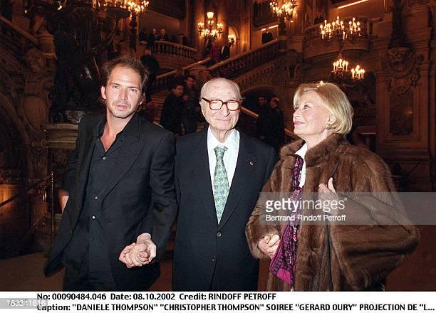 Daniele Thompson 'Christopher Thompson' 'Gerard Oury' film screening of 'La Grande Vadrouille' at the Garnier opera