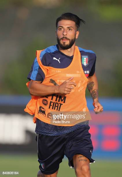 Daniele Verde of Italy U21 in action during the Italy U21 training session on August 29 2017 in Rome Italy