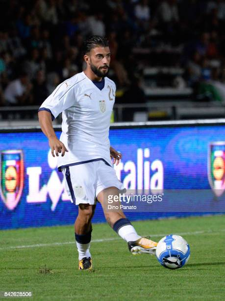 Daniele Verde of Italy U21 in action during the U21 international friendly match between Italy and Slovenia at Stadio Pier Cesare Tombolato on...
