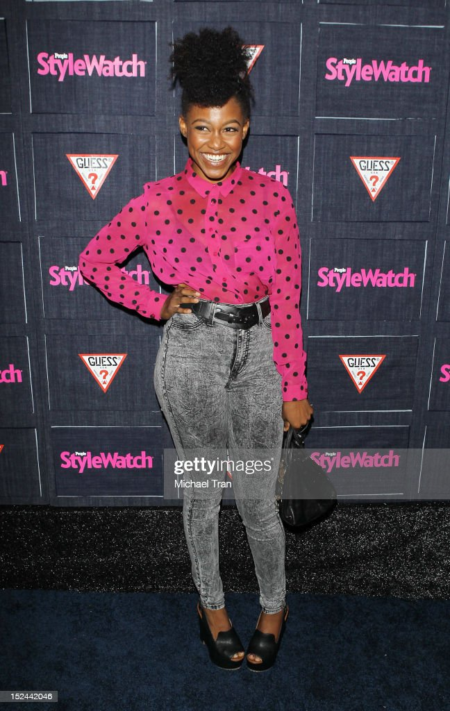 Daniele Watts arrives at the People StyleWatch Hollywood denim party held at Palihouse Holloway on September 20, 2012 in West Hollywood, California.