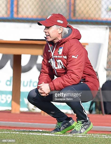 Daniele Zoratto head coach of Italy during the international friendly match between U16 Italy and U16 Germany on March 18 2015 in Recanati Italy
