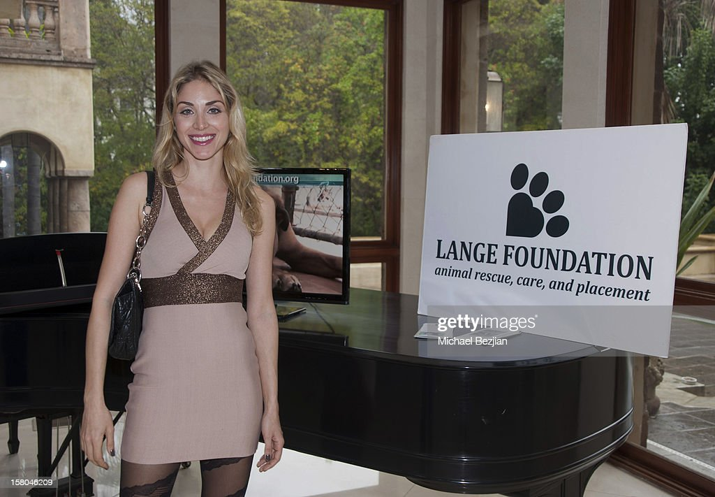 Daniella Evangelista attends 'Posing Heroes' BeautyAnd Portrait Day Benefiting The Lange Foundation on December 2, 2012 in Holmby Hills, California.