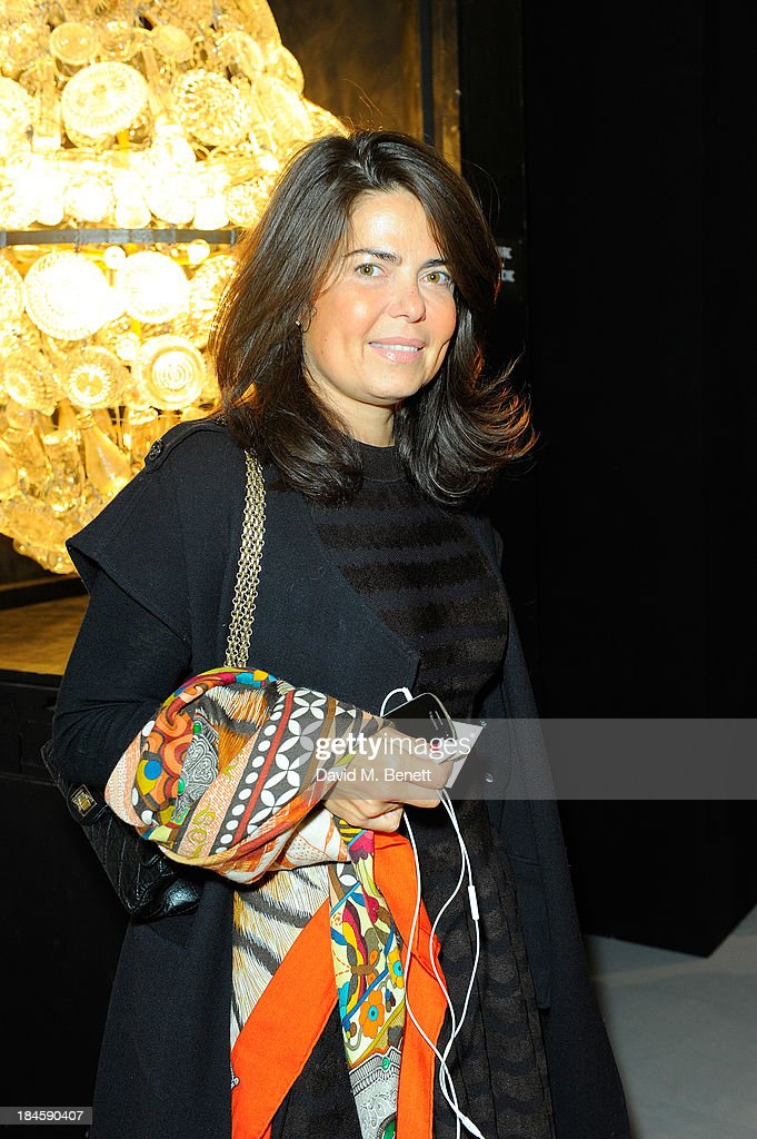 Daniella Helayel attends the Moet Hennessy London Prize Jury Visit during the PAD London Art + Design Fair at Berkeley Square Gardens on October 14, 2013 in London, England.