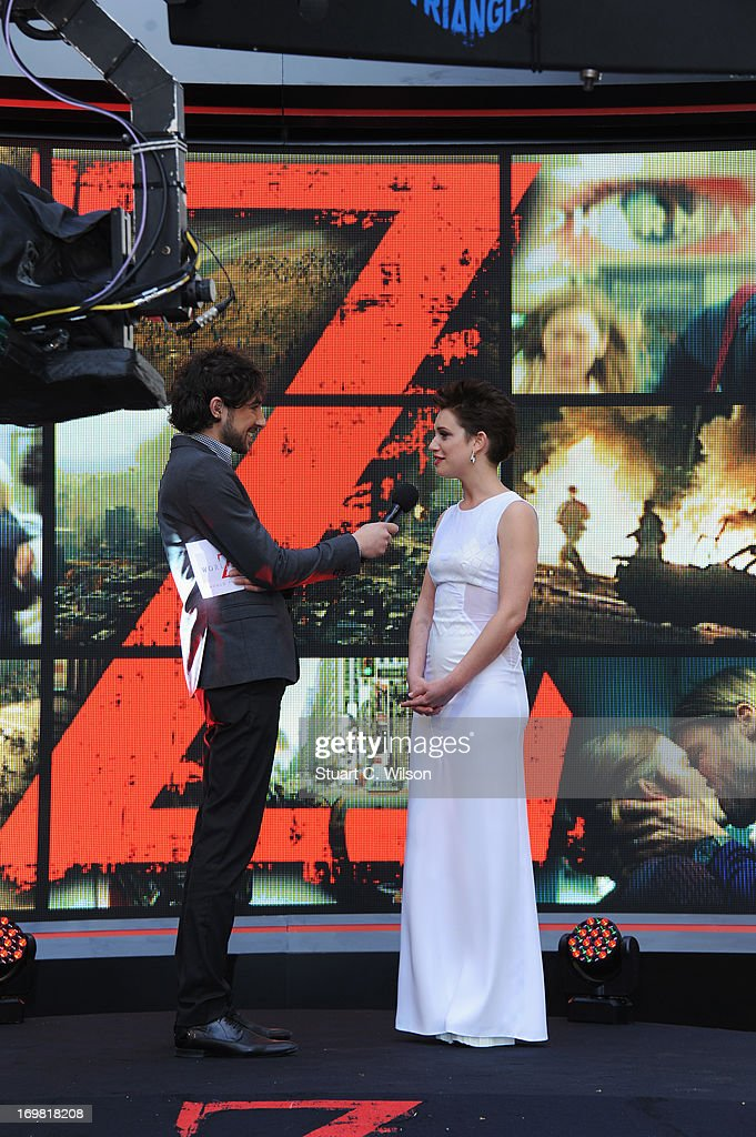 Daniella Kertesz attends the World Premiere of 'World War Z' at The Empire Cinema on June 2, 2013 in London, England.