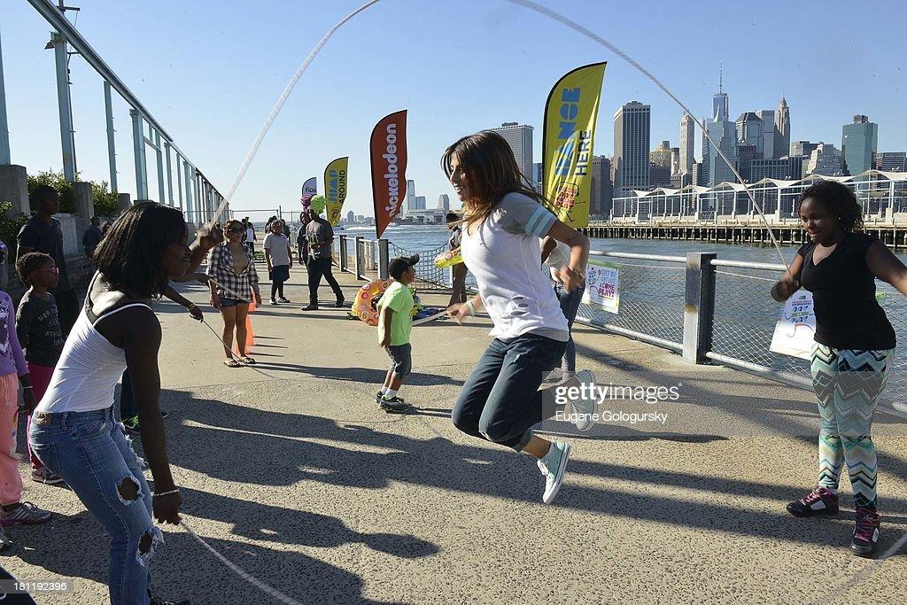 Daniella Monet attend the Nickelodeon And Brooklyn Bridge Park Host Mini-Triathlon on September 19, 2013 in New York City.