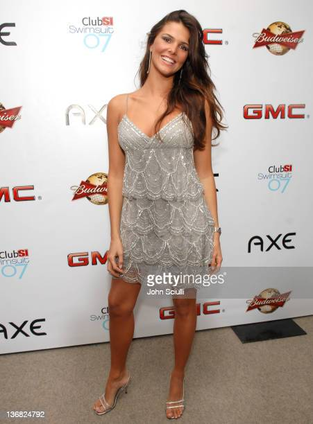 Daniella Sarahyba during 2007 Sports Illustrated Swimsuit Issue Red Carpet at Pacific Design Center in Los Angeles California United States