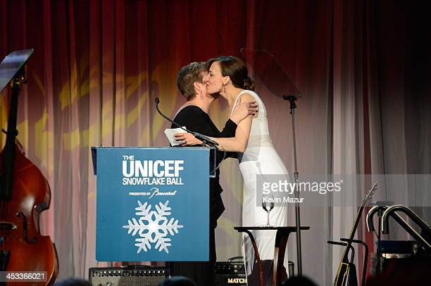 Daniella Vitale speaks on stage at The Ninth Annual UNICEF Snowflake Ball at Cipriani Wall Street on December 3 2013 in New York City