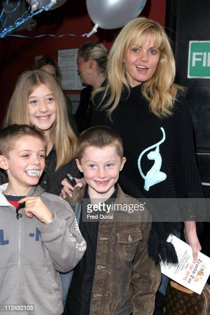 Daniella Westbrook and family during Scooby Doo Halloween Party October 29 2004 at Rex Cinema in London United Kingdom
