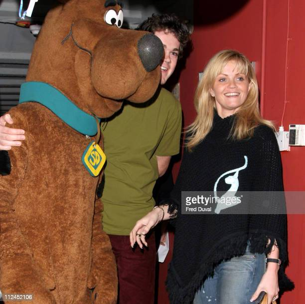 Daniella Westbrook and guest during Scooby Doo Halloween Party October 29 2004 at Rex Cinema in London United Kingdom