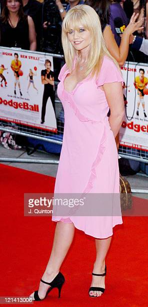 Daniella Westbrook during 'Dodgeball' London Premiere Arrivals at Odeon Kensington in London Great Britain