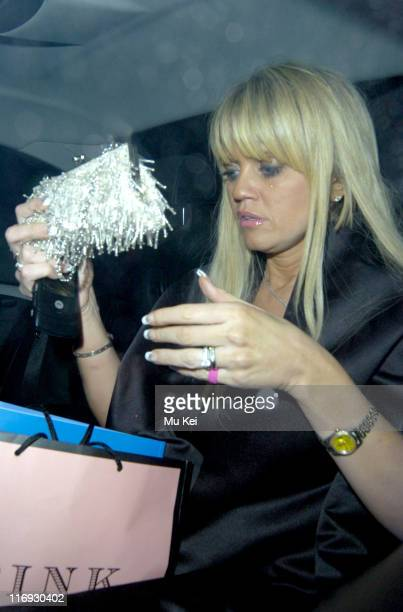 Daniella Westbrook during The 2005 Pink Ice Ball Departures at Dorchester Hotel in London Great Britain
