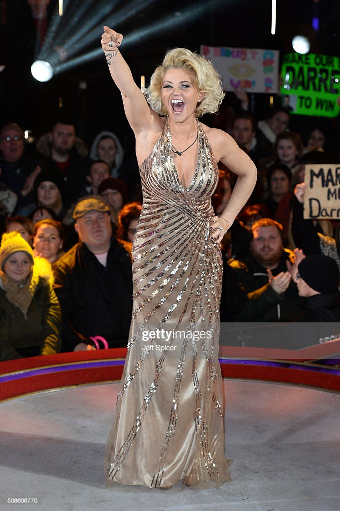 Daniella Westbrook is evicted from the Celebrity Big Brother House at Elstree Studios on February 5, 2016 in Borehamwood, England.