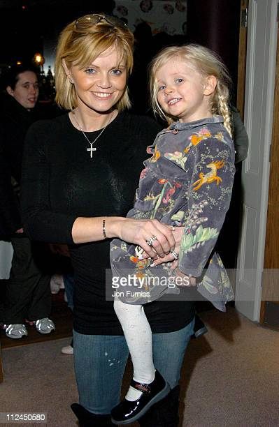 Daniella Westbrook with daughter Jolie B during 'Laura's Star' London Premiere at Soho Hotel in London Great Britain