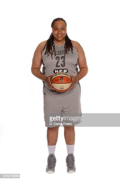 Danielle Adams of the San Antonio Stars poses for a portrait during Media Day at the Freeman Coliseum on May 26 2015 in San Antonio Texas NOTE TO...
