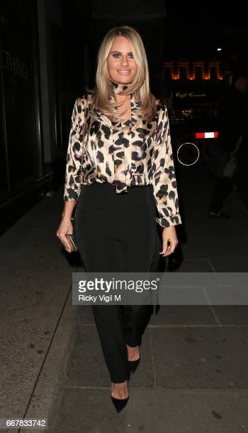 Danielle Armstrong attends James Ingham's JogOn to Cancer part 5 at Kensington Roof Gardens on April 12 2017 in London England