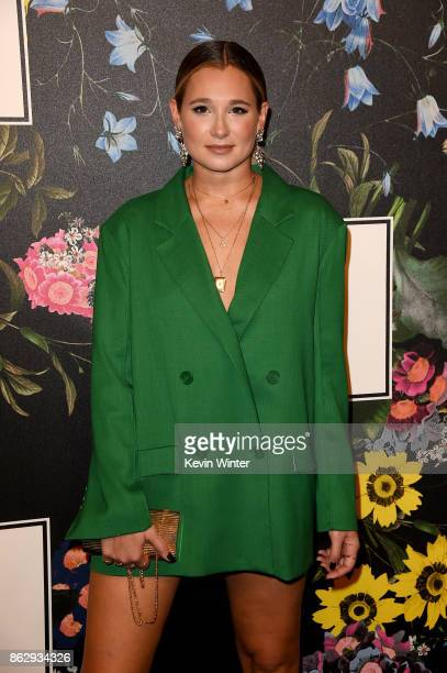 Danielle Bernstein at HM x ERDEM Runway Show Party at The Ebell Club of Los Angeles on October 18 2017 in Los Angeles California