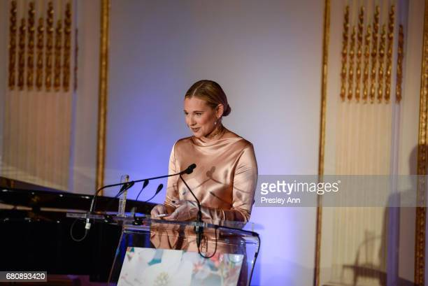 Danielle Bernstein attends Andrew Warren of Just Drew NYC Presents Special Collection at 'City of Hope' Luncheon at The Plaza Hotel on May 8 2017 in...