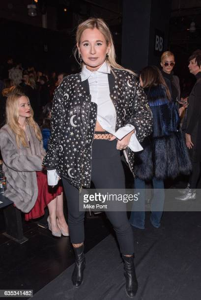 Danielle Bernstein attends the Dennis Basso collection during New York Fashion Week The Shows at Gallery 1 Skylight Clarkson Sq on February 14 2017...