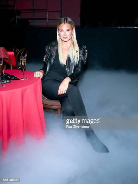 Danielle Bernstein attends the Philipp Plein fashion show during New York Fashion Week at Hammerstein Ballroom on September 9 2017 in New York City