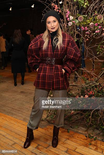 Danielle Bernstein attends Ulla Johnson Front Row during New York Fashion Week on February 9 2017 in New York City