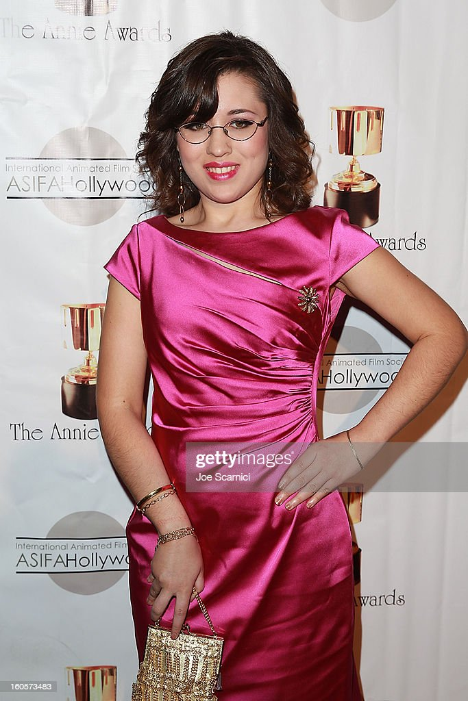 Danielle Bowman arrives at the 40th Annual Annie Awards at Royce Hall on the UCLA Campus on February 2, 2013 in Westwood, California.