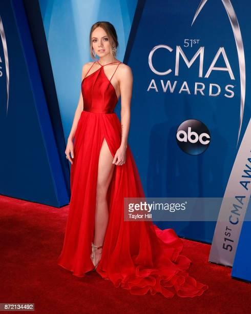 Danielle Bradbery attends the 51st annual CMA Awards at the Bridgestone Arena on November 8 2017 in Nashville Tennessee