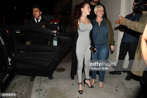 Danielle Bregoli is seen at Catch LA on March 17 2017 in Los Angeles California