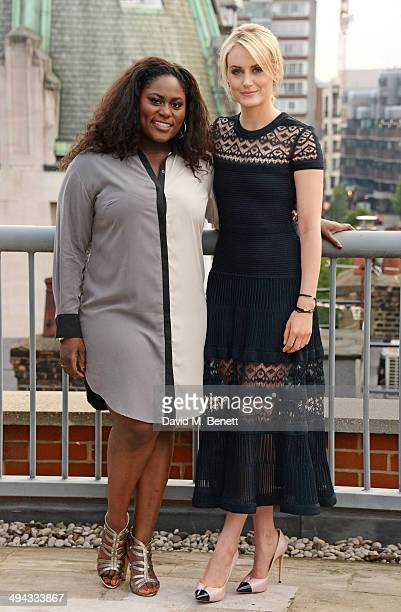 Danielle Brooks and Taylor Schilling attend a photocall to launch season 2 of Netflix exclusive series 'Orange Is The New Black' at the Soho Hotel on...