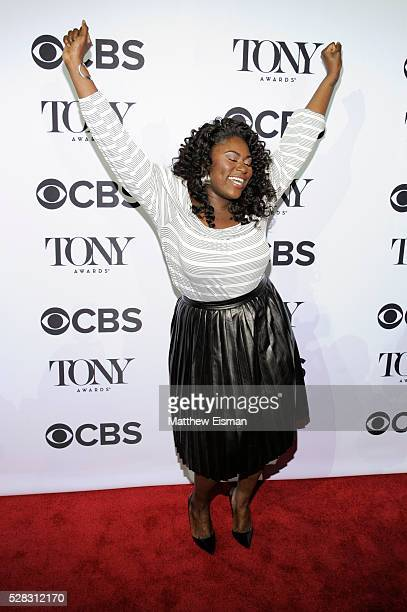 Danielle Brooks attends the 2016 Tony Awards Meet The Nominees Press Junket at Diamond Horseshoe at the Paramount Hotel on May 4 2016 in New York City