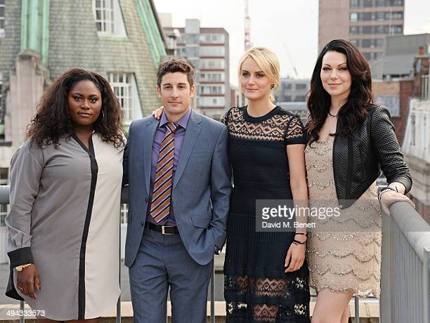 Danielle Brooks Jason Biggs Taylor Schilling and Laura Prepon attend a photocall to launch season 2 of Netflix exclusive series 'Orange Is The New...
