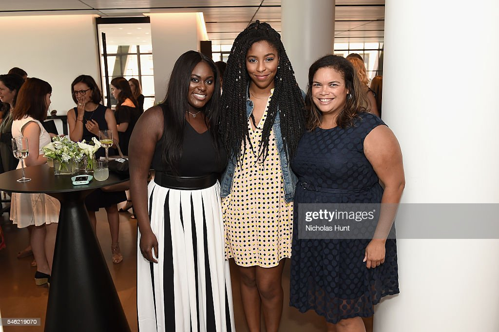 Danielle Brooks, Jessica Williams and Crystal Patterson attend a luncheon hosted by Glamour and Facebook to discuss the 2016 election at Samsung 837 in NYC on July 11, 2016 in New York City.