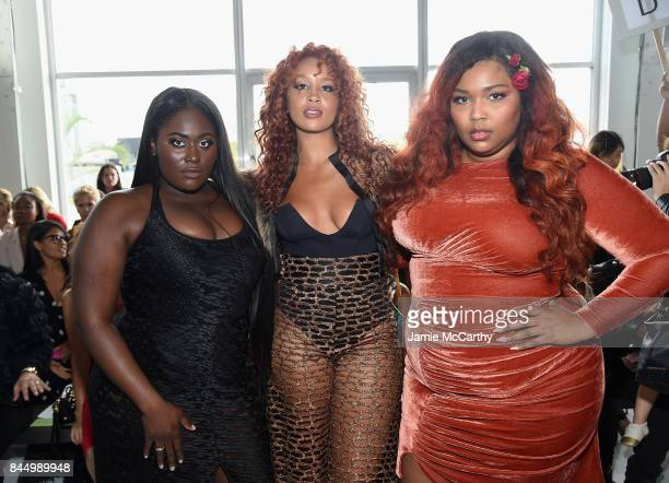 Danielle Brooks Jillian Hervey and Lizzo attend the Christian Siriano fashion show during New York Fashion Week The Shows at Pier 59 on September 9...
