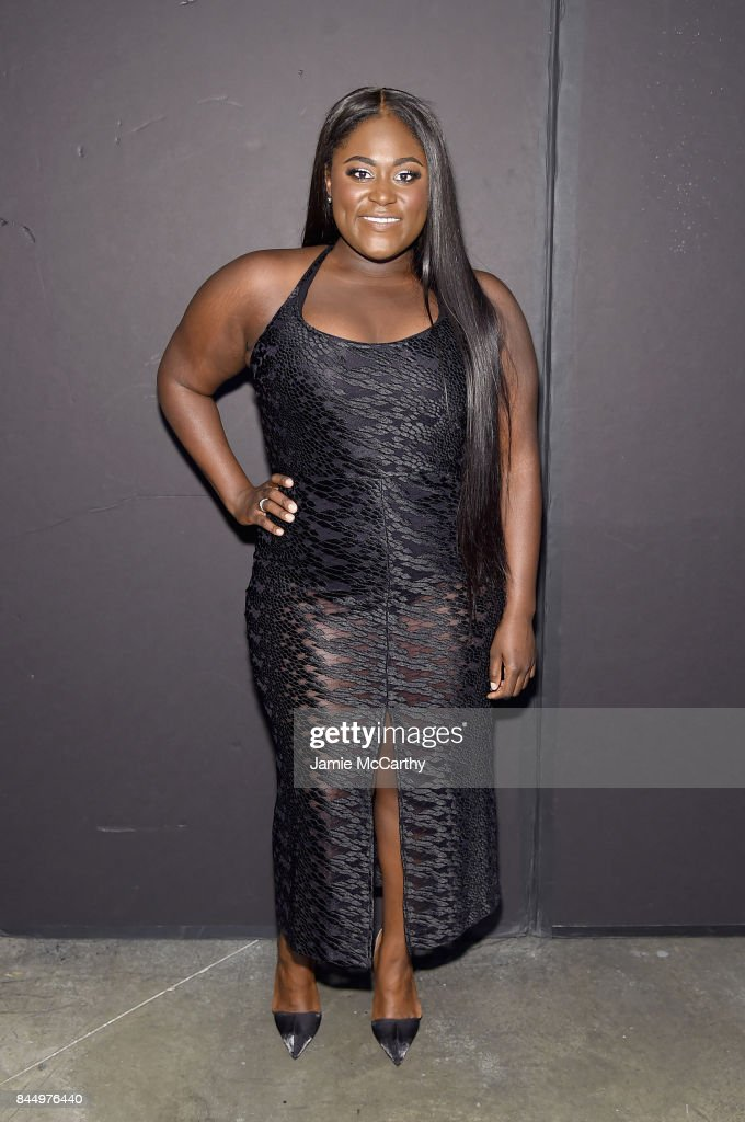 Danielle Brooks poses backstage for the Christian Siriano fashion show during New York Fashion Week: The Shows at Pier 59 on September 9, 2017 in New York City.