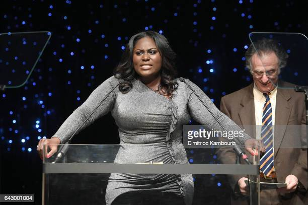 Danielle Brooks speaks onstage during 69th Writers Guild Awards New York Ceremony at Edison Ballroom on February 19 2017 in New York City