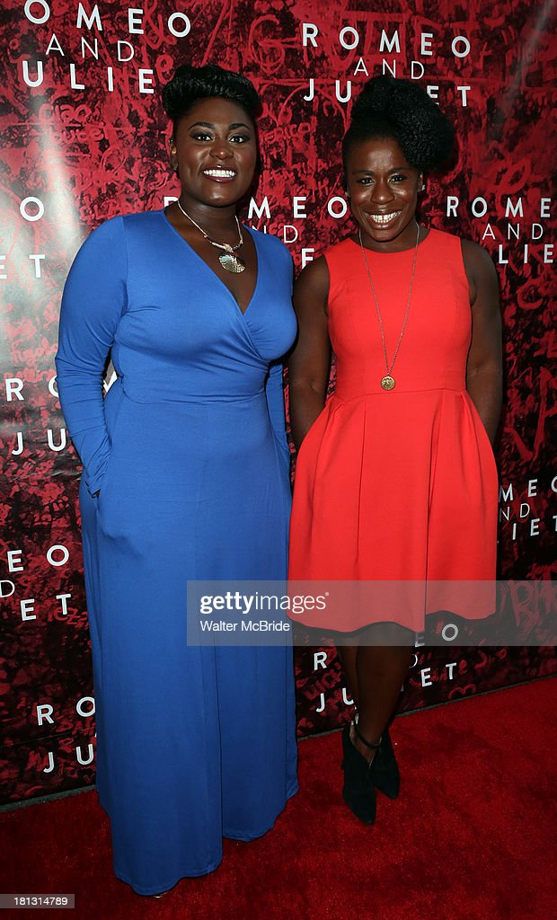 <a gi-track='captionPersonalityLinkClicked' href=/galleries/search?phrase=Danielle+Brooks&family=editorial&specificpeople=8868624 ng-click='$event.stopPropagation()'>Danielle Brooks</a> & Uzo Aduba attend the 'Romeo And Juliet' Broadway Opening Night at Richard Rodgers Theatre on September 19, 2013 in New York City.