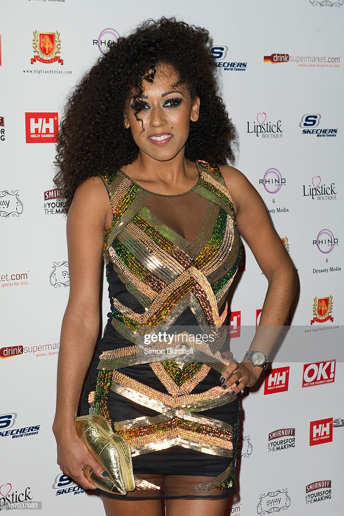 Danielle Brown attends the OK! Magazine Christmas Party at Sway on November 27, 2012 in London, England.