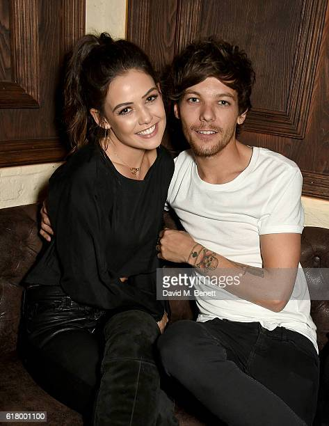 Danielle Campbell and Louis Tomlinson attends as Lottie Tomlinson hosts a party to launch her collection Nails Inc X Lips Inc Matchbox collection at...