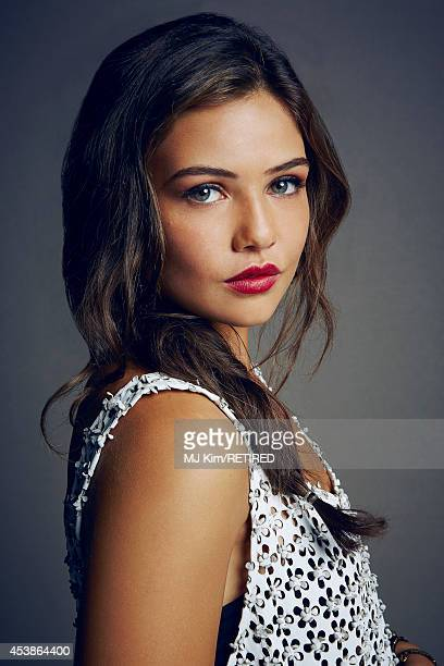 Danielle Campbell poses for a portrait at the Getty Images Portrait Studio powered by Samsung Galaxy at ComicCon International 2014 on July 24 2014...