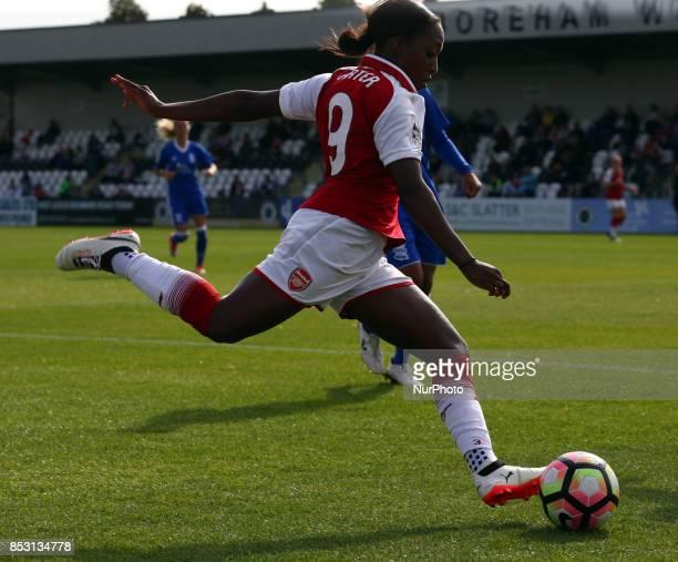 Danielle Carter of Arsenal Women during Women's Super League 1 match between Arsenal Women against Birmingham City Ladies at Borehamwood Football...