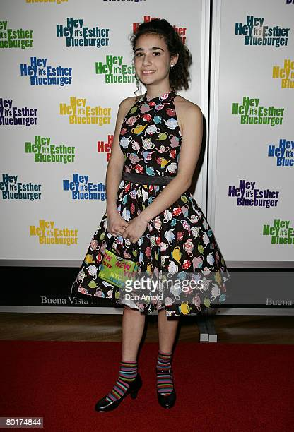 Danielle Catanzariti attends the Australian premiere of 'Hey Hey It's Esther Blueburger' at the Greater Union Cinema Bondi Junction on March 9 2008...