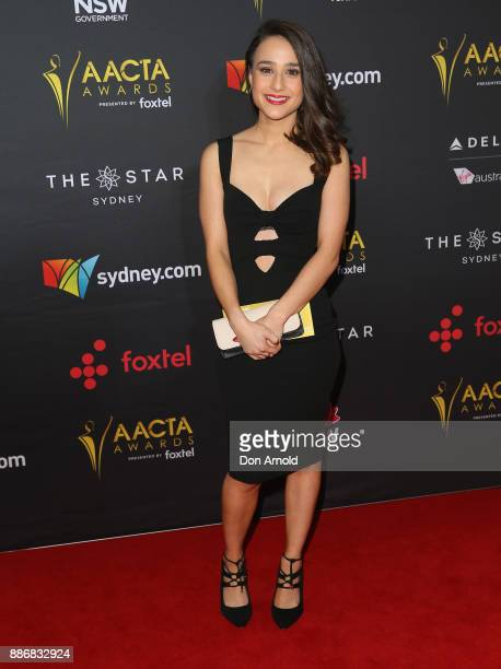 Danielle Catanzariti poses during the 7th AACTA Awards at The Star on December 6 2017 in Sydney Australia