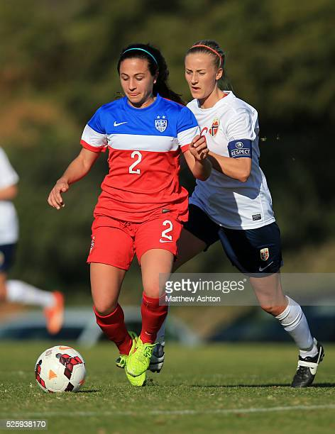 Danielle Colaprico of United States of America USA Women U23 and Anja Sonstevold of Norway Women U23